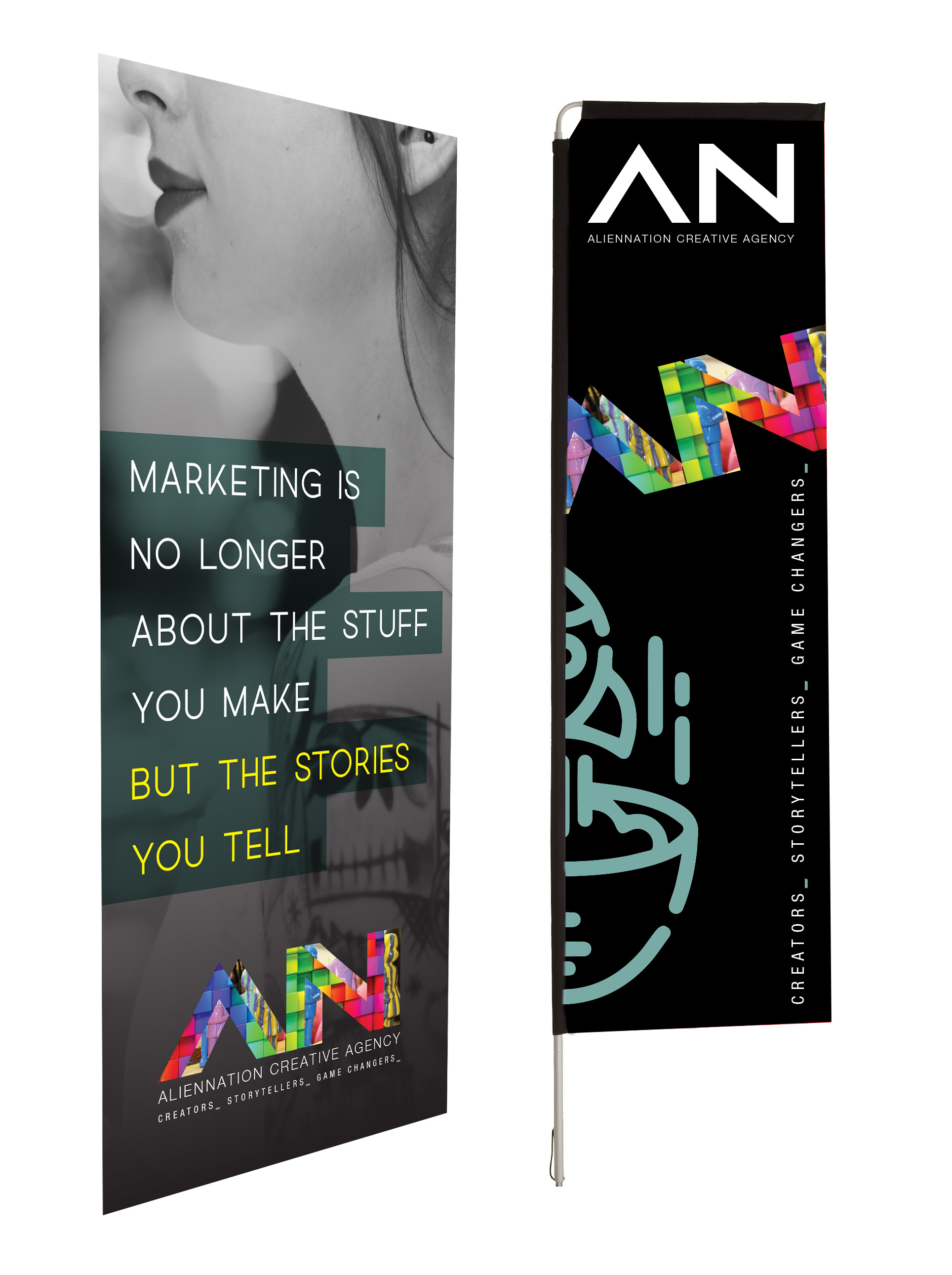 Promotional Products Pullup Banner Telescopic Flag
