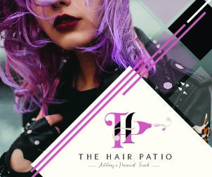 The Hair Patio Advert 60x50mm