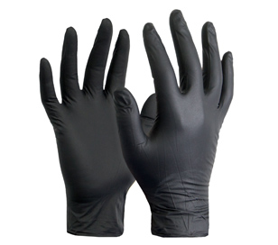 Boxes black nitrile gloves atex and powder free bulk