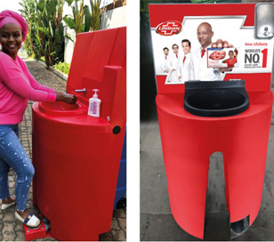 Branded Wash Station with Foot Control
