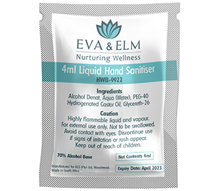 Eva and Elm Hand Sanitiser Sachet